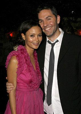 "Premiere: <a href=""/movie/contributor/1800018708"">Thandie Newton</a> and Ol Parker at the Los Angeles premiere of Picturehouse's <a href=""/movie/1809787398/info"">Run, Fat Boy, Run</a> - 03/24/2008<br>Photo: <a href=""http://www.wireimage.com/"">Jeff Vespa, WireImage.com</a>"