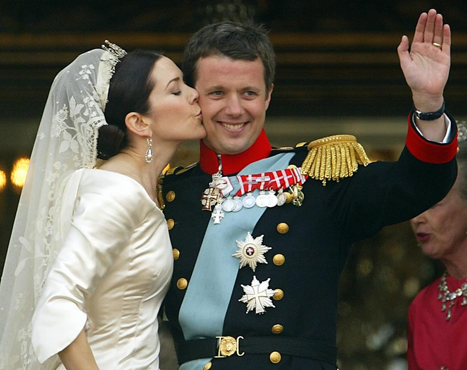 Crown Princess Mary of Denmark and Crown Prince Frederik tied the knot on 14 May 2004. Photo: Getty Images