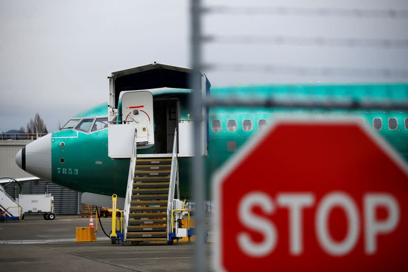 FILE PHOTO: Boeing 737 Max aircraft at Boeing's 737 Max production facility in Renton