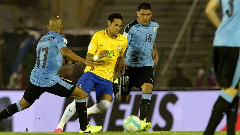 Neymar Uruguay Brazil South America Qualifiers 23032017