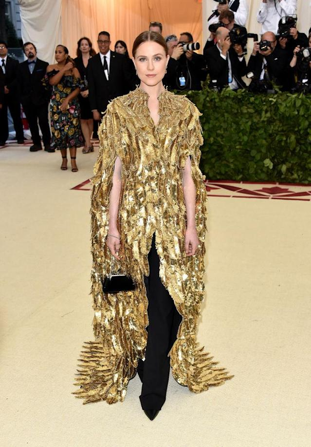 <p>Evan Rachel Wood in Altuzarra. (Photo: Getty Images) </p>