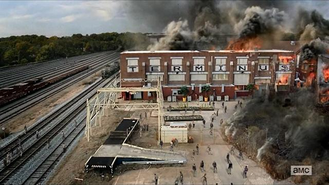 "<p>In the show, Terminus was a nightmarish place where the cannibalistic residents lured unsuspecting victims to be slaughtered. But in the comics, it never existed. There were cannibals called ""The Hunters"" led by a man named Chris (Gareth in the show). The Hunters kidnap Dale (still alive at that point) and cut off his leg for dinner. Unbeknownst to them, he'd been infected with the zombie virus. On the show, Bob took Dale's place.<br><br>(Credit: AMC) </p>"
