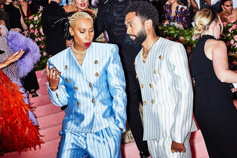 Lena Waithe and Kerby Jean-Raymond on the red carpet at the Met Gala in New York City on Monday, May 6th, 2019. Photograph by Amy Lombard for W Magazine.