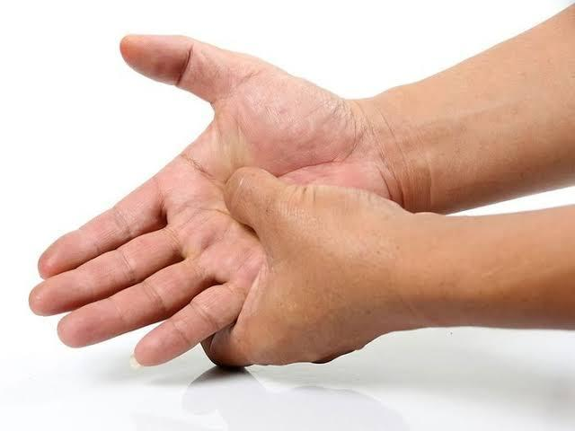 Squeeze your palms
