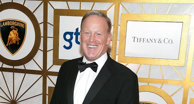 Former White House press secretary Sean Spicer wants to be back on the air. (Photo: Paul Morigi/Getty Images)