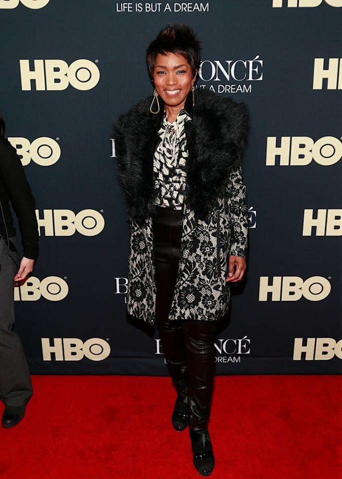 """Angela Bassett attends the """"Beyonce: Life Is But A Dream"""" New York Premiere at Ziegfeld Theater on February 12, 2013 in New York City."""