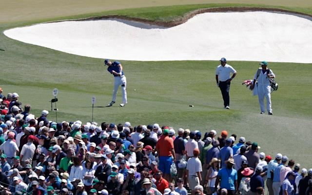 <span>Jordan Spieth drives off the tee</span> <span>Credit: EPA </span>