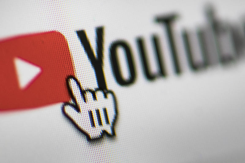 BERLIN, GERMANY - MARCH 26: In this photo illustration the mouse cursor is pictured on the YouTube logo on March 26, 2019 in Berlin, Germany. (Photo Illustration by Florian Gaertner/Getty Images)