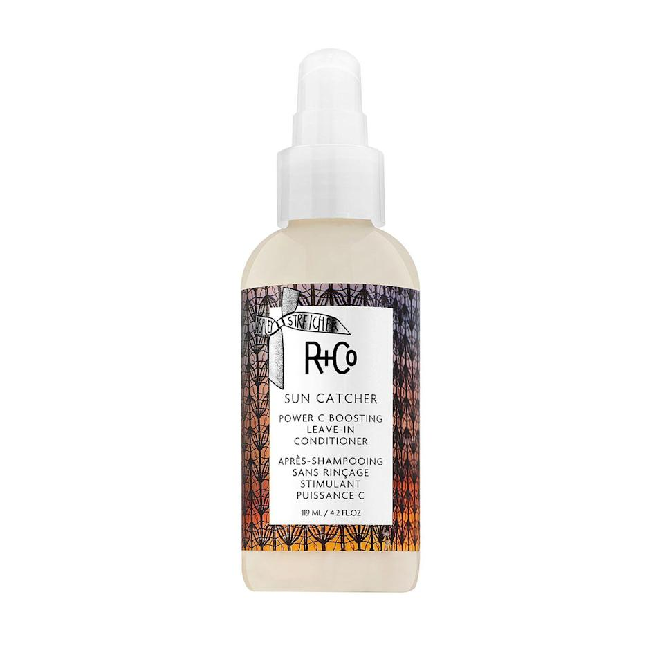 """<p><strong>R+Co</strong></p><p>dermstore.com</p><p><strong>$32.00</strong></p><p><a href=""""https://go.redirectingat.com?id=74968X1596630&url=https%3A%2F%2Fwww.dermstore.com%2Fproduct_SUN%2BCATCHER%2BPower%2BC%2BBoosting%2BLeaveIn%2BConditioner_83071.htm&sref=https%3A%2F%2Fwww.harpersbazaar.com%2Fbeauty%2Fg36492774%2Fdermstore-summer-sale-2021%2F"""" rel=""""nofollow noopener"""" target=""""_blank"""" data-ylk=""""slk:Shop Now"""" class=""""link rapid-noclick-resp"""">Shop Now</a></p><p>Protect your hair from the sun's harmful rays with this ultra-nourishing leave-in conditioner. The hyaluronic acid keeps hair moisturized all day, while the addition of vitamin C works to protect hair from UV damage. </p>"""