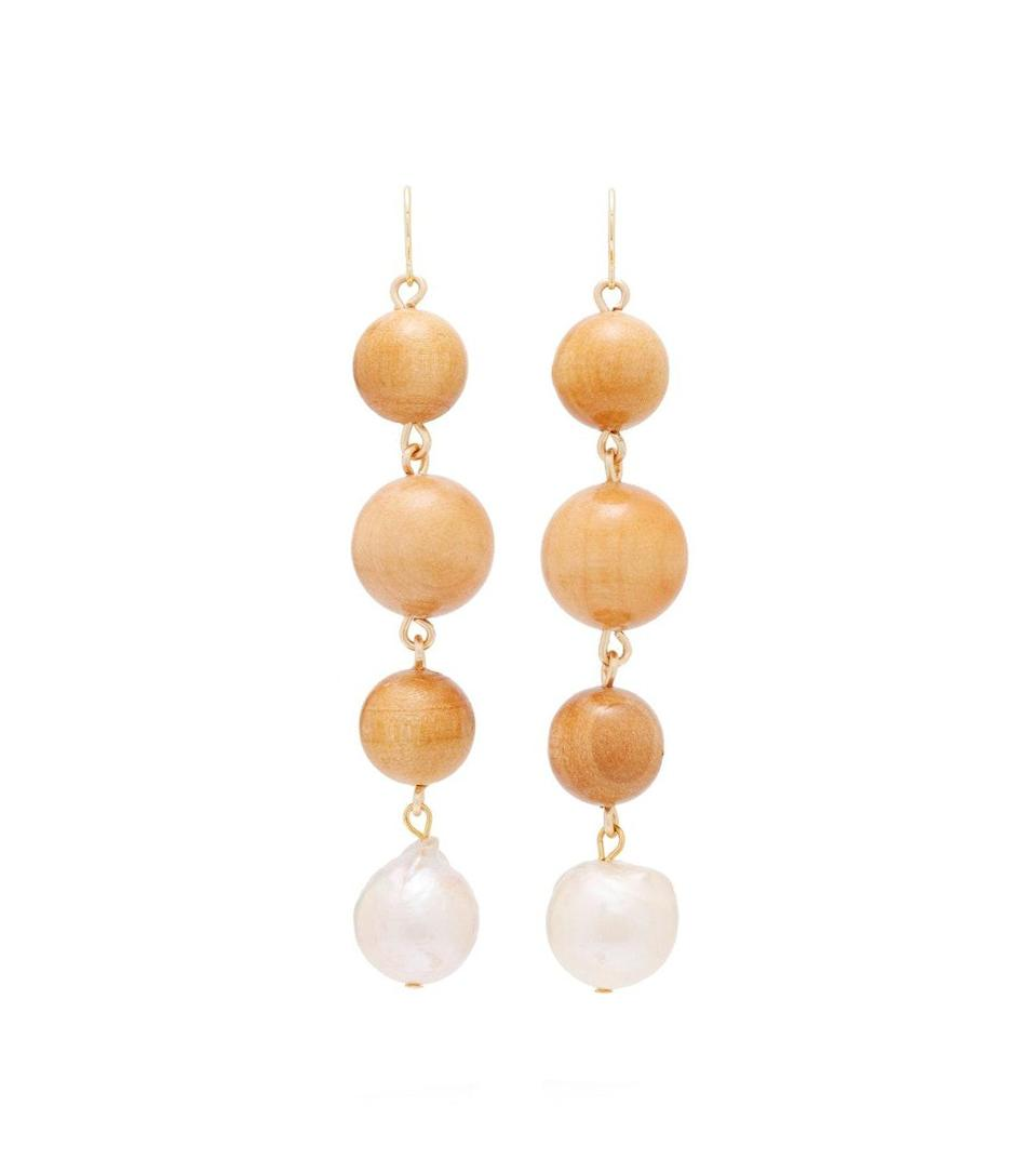 "You can't go wrong with these pine and pearl earrings from Venice-based jewelry designer Sophie Monet. For orders of $150 or more, <a href=""https://cna.st/affiliate-link/372k3dFnGDQUpeXzg15vaTrN7cu6o9u79BPZ7yPP4QY7usHJuWDL7YCrbPbwg9dHYRbTzbD84XAfDJJBY?cid=5e9dc6f591afce0008e323ad"" rel=""nofollow noopener"" target=""_blank"" data-ylk=""slk:Anthropologie"" class=""link rapid-noclick-resp"">Anthropologie</a> is offering free standard shipping and free returns for delivery within five to nine days, in addition to expedited express or overnight shipping. $188, Anthropologie. <a href=""https://www.anthropologie.com/shop/sophie-monet-lilith-drop-earrings"" rel=""nofollow noopener"" target=""_blank"" data-ylk=""slk:Get it now!"" class=""link rapid-noclick-resp"">Get it now!</a>"