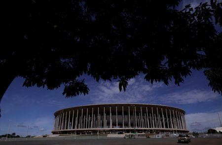View of the Mane Garrincha National Stadium in Brasilia