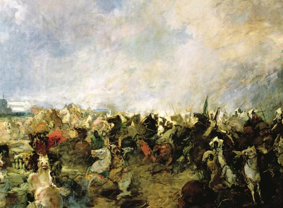 """Several historic events have taken place during the month of Ramadan. For instance, the Battle of Guadalete in the year 711 A.D., which occurred during the month of Ramadan, was the catalyst for the brief period of Muslim governance in what is now Spain and the majority of France. The conquest of Mecca, led by the Prophet Muhammad, also took place during the month of Ramadan in what people believe to be either 629 or 630 A.D. Today, Muslims face towards Mecca when reciting their daily prayers, the literal epicenter of the Islamic faith. And for more overlapping historical events, check out <a href=""""https://bestlifeonline.com/july-4-historical-events/?utm_source=yahoo-news&utm_medium=feed&utm_campaign=yahoo-feed"""" rel=""""nofollow noopener"""" target=""""_blank"""" data-ylk=""""slk:30 Major Events That Also Happened on July Fourth"""" class=""""link rapid-noclick-resp"""">30 Major Events That Also Happened on July Fourth</a>."""