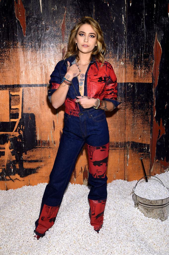 <p>Paris Jackson rocked an all-in-one for the Calvin Klein AW18 show. <em>[Photo: Getty]</em> </p>