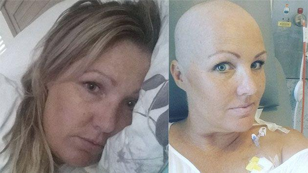 Donna was forced to have a double mastectomy and has already fought 9 months past her