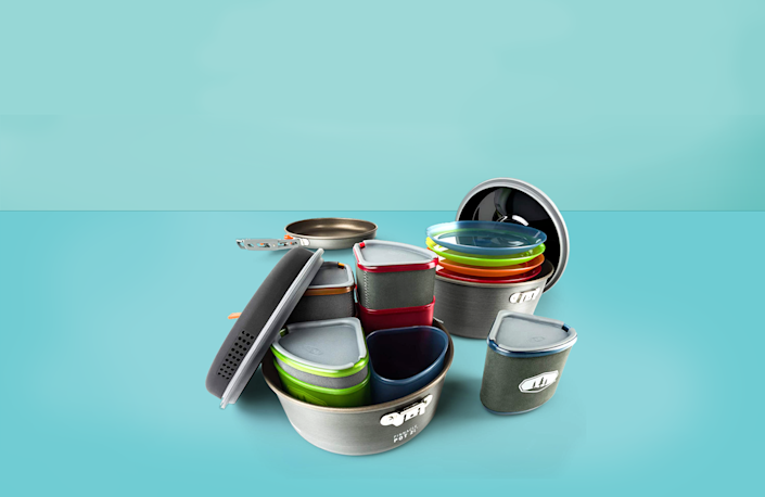 """<p>No camping trip is complete without a cookware set to help make your meals while you're in the great outdoors. Even though the ethos of <a href=""""https://www.goodhousekeeping.com/life/parenting/g27287900/best-camping-games-activities/"""" rel=""""nofollow noopener"""" target=""""_blank"""" data-ylk=""""slk:camping"""" class=""""link rapid-noclick-resp"""">camping</a> is to make do with what you've got, you want to <a href=""""https://www.goodhousekeeping.com/home-products/g32958220/best-camping-gadgets/"""" rel=""""nofollow noopener"""" target=""""_blank"""" data-ylk=""""slk:make sure that what you've got"""" class=""""link rapid-noclick-resp"""">make sure that what you've got</a> can get the job done. Whether you're the kind of camper that's whipping up a gourmet meal over the campfire or you just need a few pots and pans to help you boil water and maybe fry an <a href=""""https://www.goodhousekeeping.com/uk/food/a531999/how-to-make-scrambled-eggs/"""" rel=""""nofollow noopener"""" target=""""_blank"""" data-ylk=""""slk:egg"""" class=""""link rapid-noclick-resp"""">egg</a>, there's a camping cookware set out there that will fit your needs. </p><p>In the <a href=""""https://www.goodhousekeeping.com/institute/"""" rel=""""nofollow noopener"""" target=""""_blank"""" data-ylk=""""slk:Good Housekeeping Institute Kitchen Appliances and Technology Lab,"""" class=""""link rapid-noclick-resp"""">Good Housekeeping Institute Kitchen Appliances and Technology Lab,</a> we've tested more than 90 sets of camping cookware. While we may not have pitched our tents or set up a campfire to test them, we made 50 eggs, seared 10 <a href=""""https://www.goodhousekeeping.com/food-recipes/g2346/steak-recipes/"""" rel=""""nofollow noopener"""" target=""""_blank"""" data-ylk=""""slk:steaks"""" class=""""link rapid-noclick-resp"""">steaks</a>, and brought 10 quarts of water to a boil to help us with our ratings. We also evaluated how well the nonstick coating or <a href=""""https://www.goodhousekeeping.com/cooking-tools/cookware-reviews/g5050/best-stainless-steel-cookware-sets/"""" rel=""""nofollow noopener"""" target=""""_blank"""" data-ylk=""""slk:stain"""