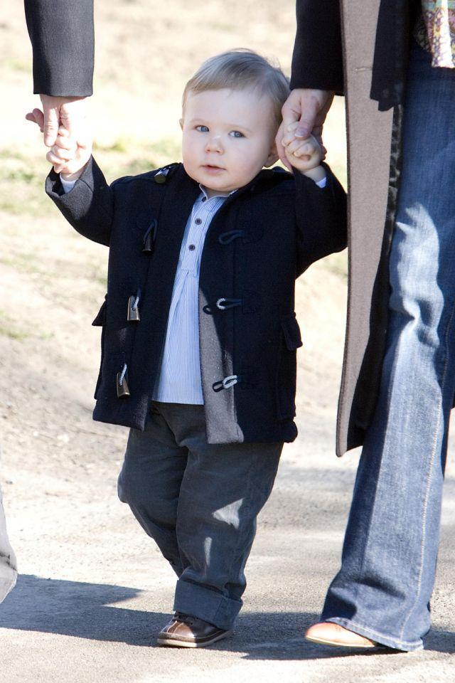 <p>March 2007: Little Christian pictured on his first day at nursery school. Photo: Getty Images.</p>