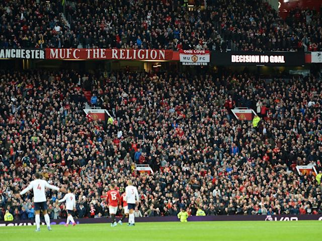 A fan was ejected at Old Trafford over alleged racist abuse: EPA