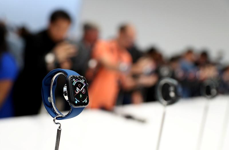 Apple has sought to diversify its revenue base with new products like its smartwatch and a range of services but still relies heavily on the iPhone (AFP Photo/JUSTIN SULLIVAN)
