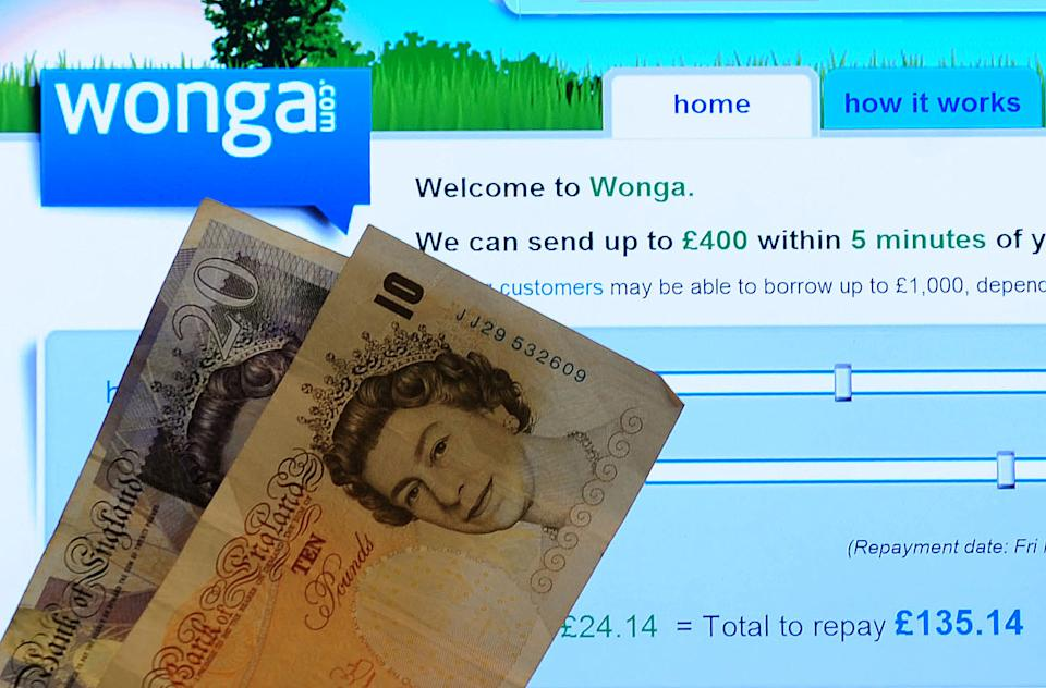 General view of payday loan Wonga website. (Photo by Rui Vieira/PA Images via Getty Images)