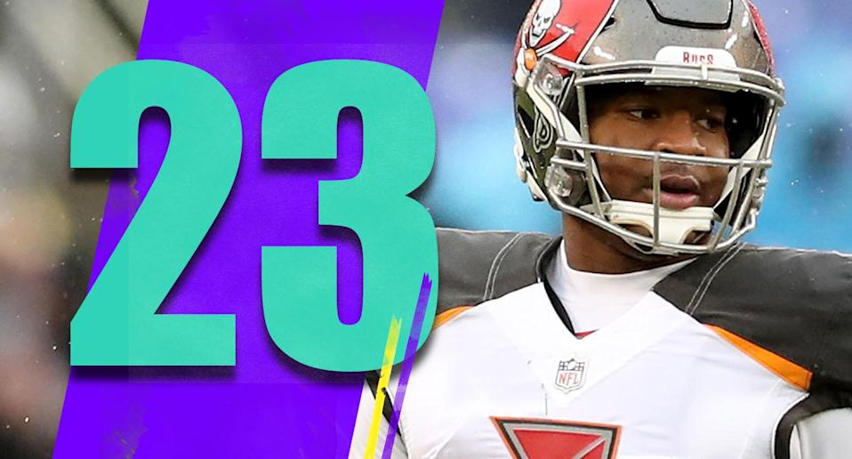 <p>Jameis Winston's past two games have been brutal: 31-of-63, 370 yards, two touchdowns, two interceptions, 64.9 passer rating. Good luck if you're the Buccaneers trying to figure out what to do about his future. (Jameis Winston) </p>