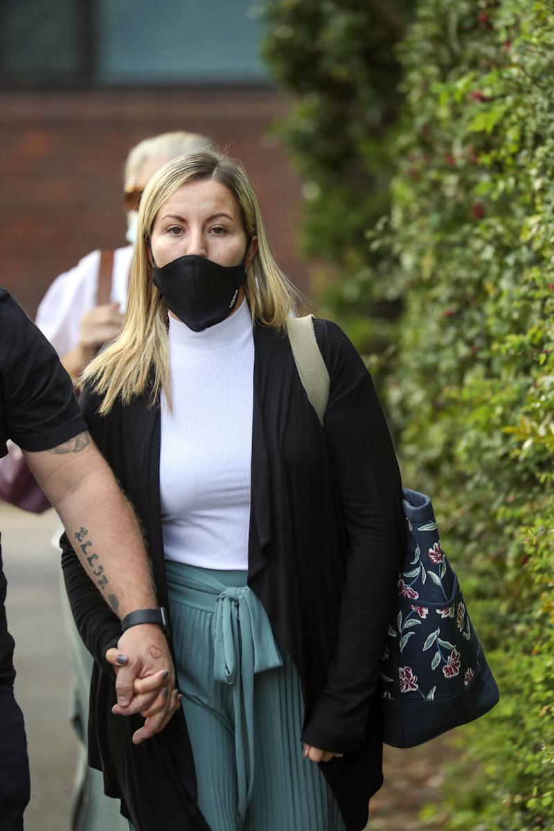 Kandice Barber leaves Aylesbury Crown Court. (PA Images)