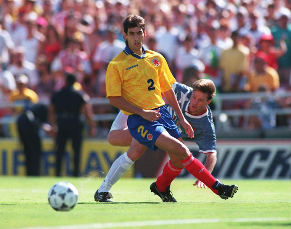 Andres Escobar during the 1994 World Cup.