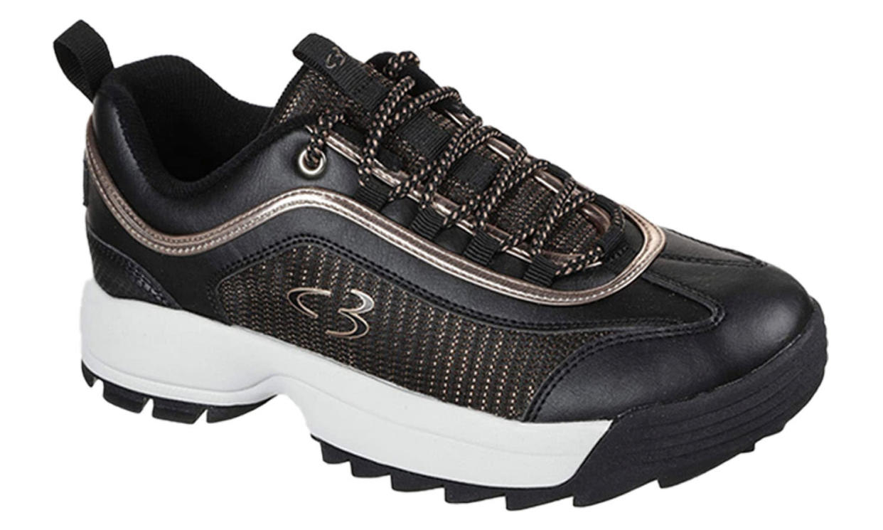 Skechers Concept 3 Beyond Fresh Lace-up Fashion Sneaker in Black/Rose Gold (Photo: Amazon)