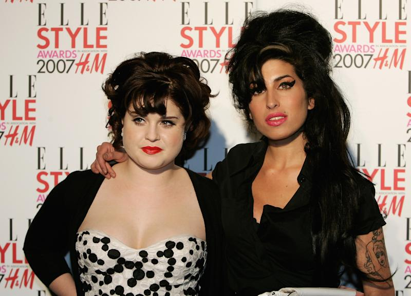 LONDON - FEBRUARY 12: Amy Winehouse and Kelly Osbourne arrives at the ELLE Style Awards at the Round House Camden February 12, 2007 in London, England. (Photo by Chris Jackson/Getty Images)