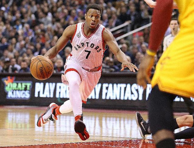 Kyle Lowry of the Toronto Raptors led with a game-high 32 points as Toronto defeated the Utah Jazz 104-94 for their franchise-best 11th straight home win (AFP Photo/Claus Andersen)