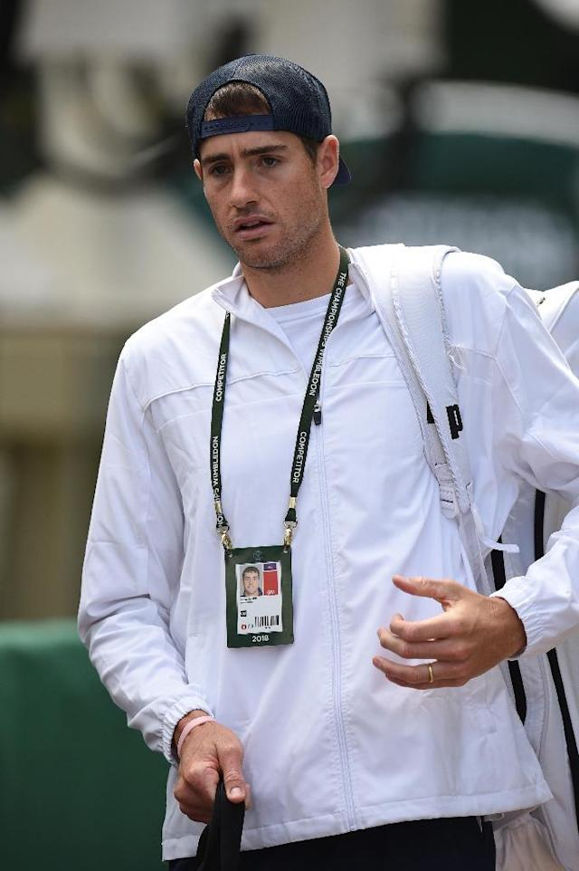 Perfect service: John Isner has yet to drop serve (AFP Photo/Oli SCARFF )