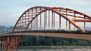 The old Port Mann Bridge was the most expensive piece of Highway in Canada when it was built.