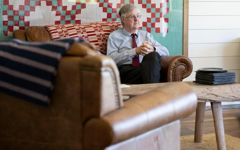 Mark Drakeford visits a self-contained accommodation today - Getty