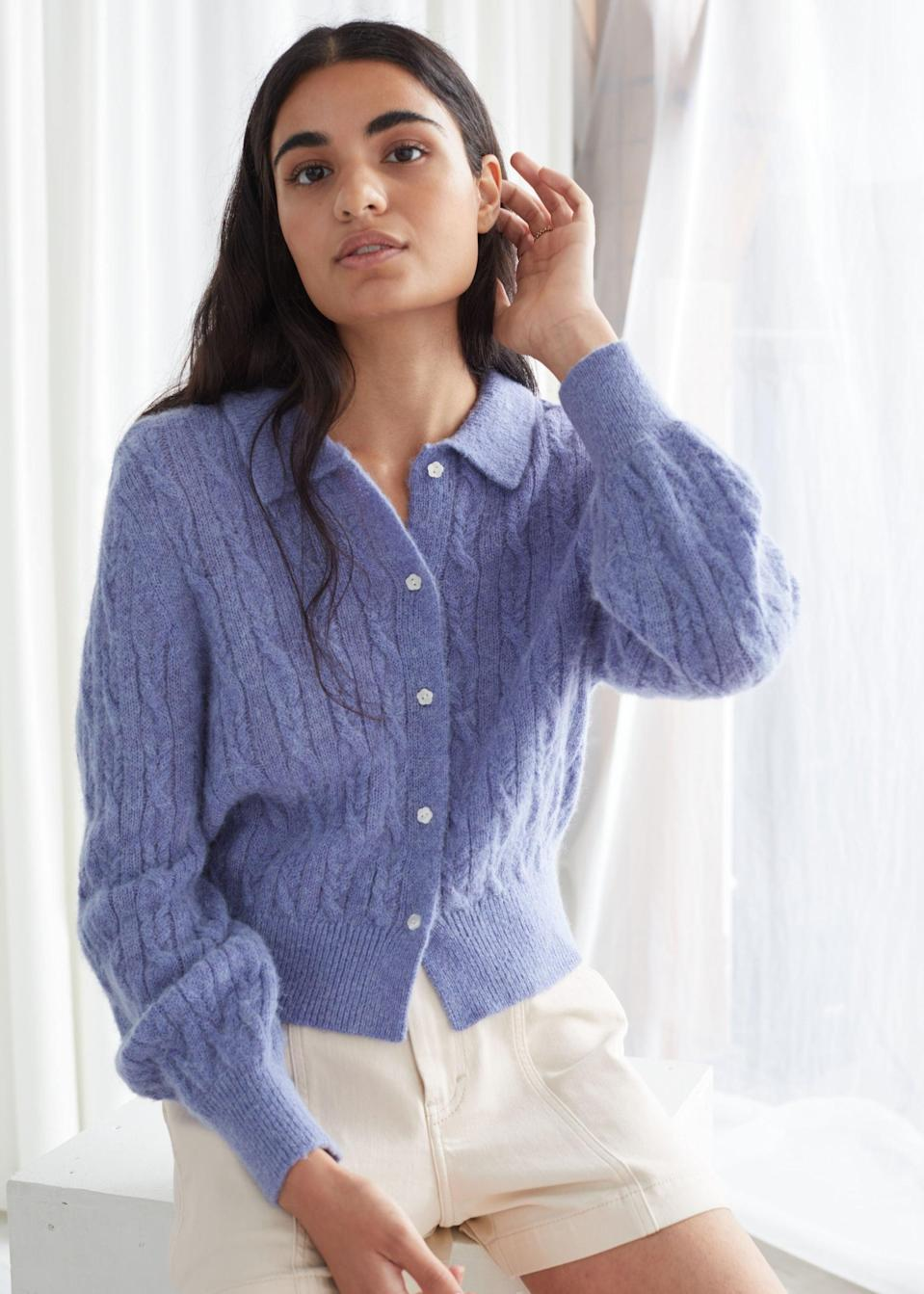 <p>Feel your best in this comfy <span>&Other Stories Alpaca Blend Cable Knit Cardigan</span> ($89).</p>