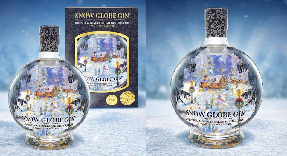 This snow globe gin is the perfect Christmas present. (Harvey Nichols)