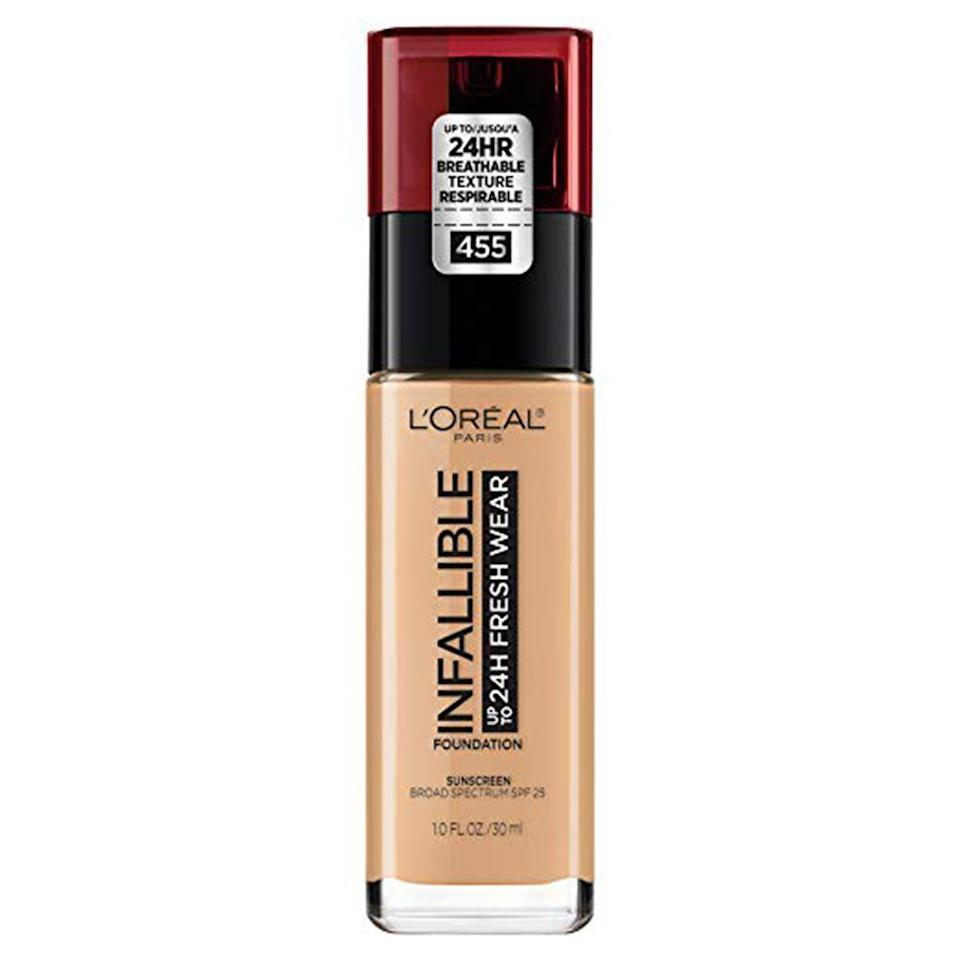 """<p><strong>L'Oreal Paris</strong></p><p>amazon.com</p><p><strong>$11.48</strong></p><p><a href=""""https://www.amazon.com/dp/B07H621PLM?tag=syn-yahoo-20&ascsubtag=%5Bartid%7C2089.g.33534382%5Bsrc%7Cyahoo-us"""" rel=""""nofollow noopener"""" target=""""_blank"""" data-ylk=""""slk:Shop Now"""" class=""""link rapid-noclick-resp"""">Shop Now</a></p><p>If you're looking for a lightweight foundation with full coverage that's also an under-$15 beauty bargain, then this <a href=""""https://www.tiktok.com/@roachapproachh/video/6778590560434375942?lang=en"""" rel=""""nofollow noopener"""" target=""""_blank"""" data-ylk=""""slk:TikTok beauty product"""" class=""""link rapid-noclick-resp"""">TikTok beauty product</a> is your best bet. This L'Oréal foundation is beloved by nearly every beauty-obsessed TikToker, plus it has thousands of glowing reviews on Amazon. It also comes in 30 shades, helping to ensure that you'll find the right match for you.</p>"""