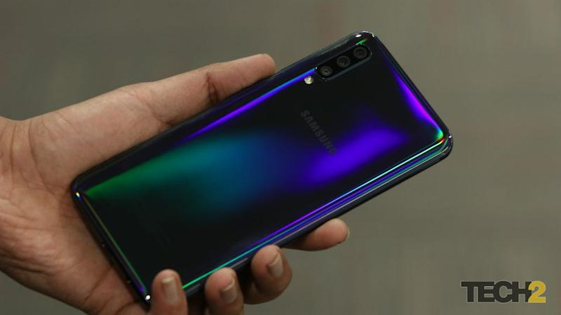 The refracting back on the Samsung Galaxy A50. Image: tech2