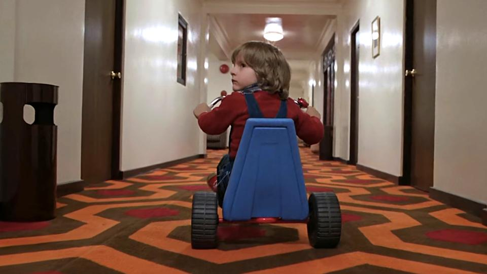The carpets and corridors of the Overlook Hotel are among the most iconic elements of 'The Shining'. (Credit: Warner Bros)