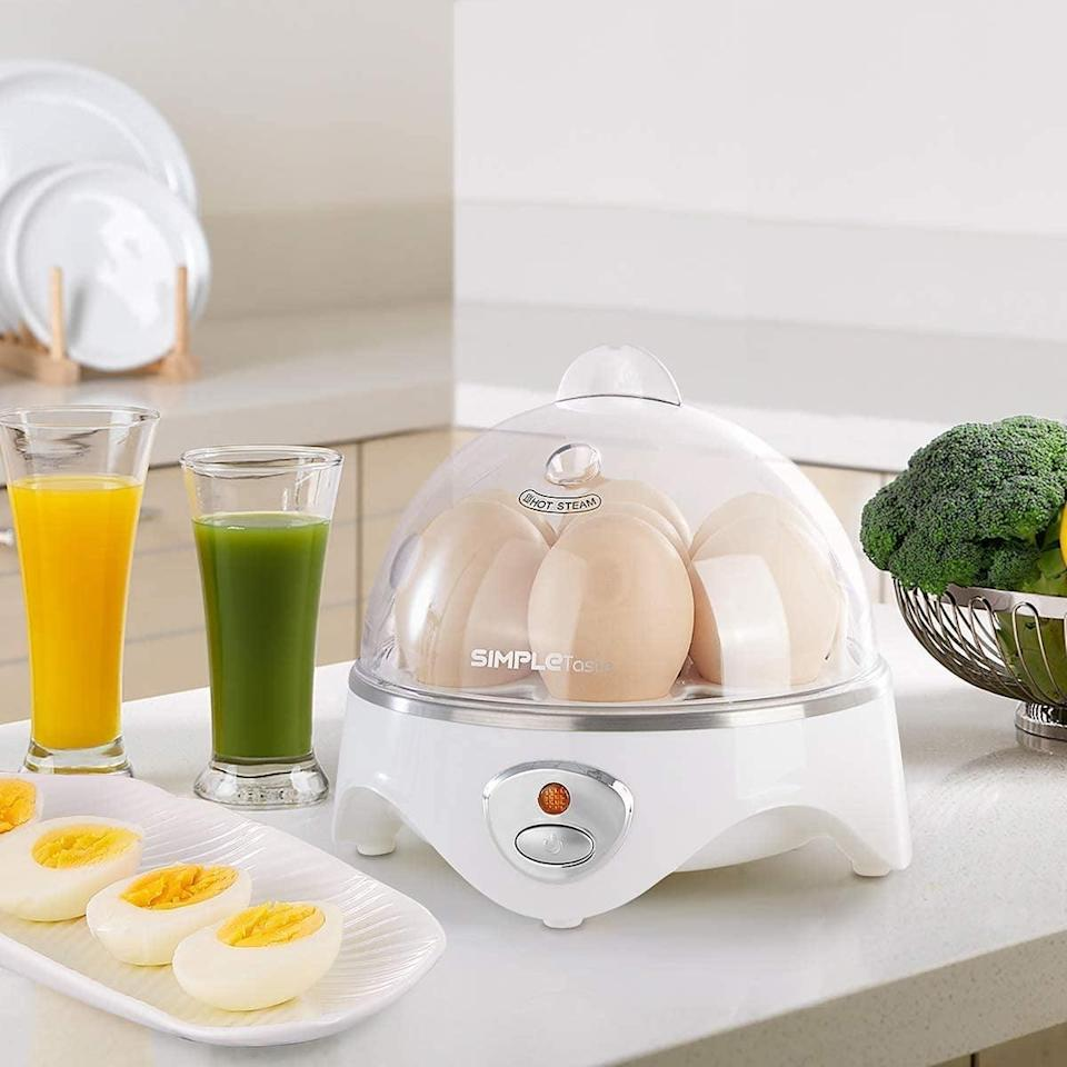 <p>This BPA-free <span>Simpletaste 7 Capacity Electric Egg Cooker</span> ($30) can boil, poach, and even make omelets with your eggs.</p>