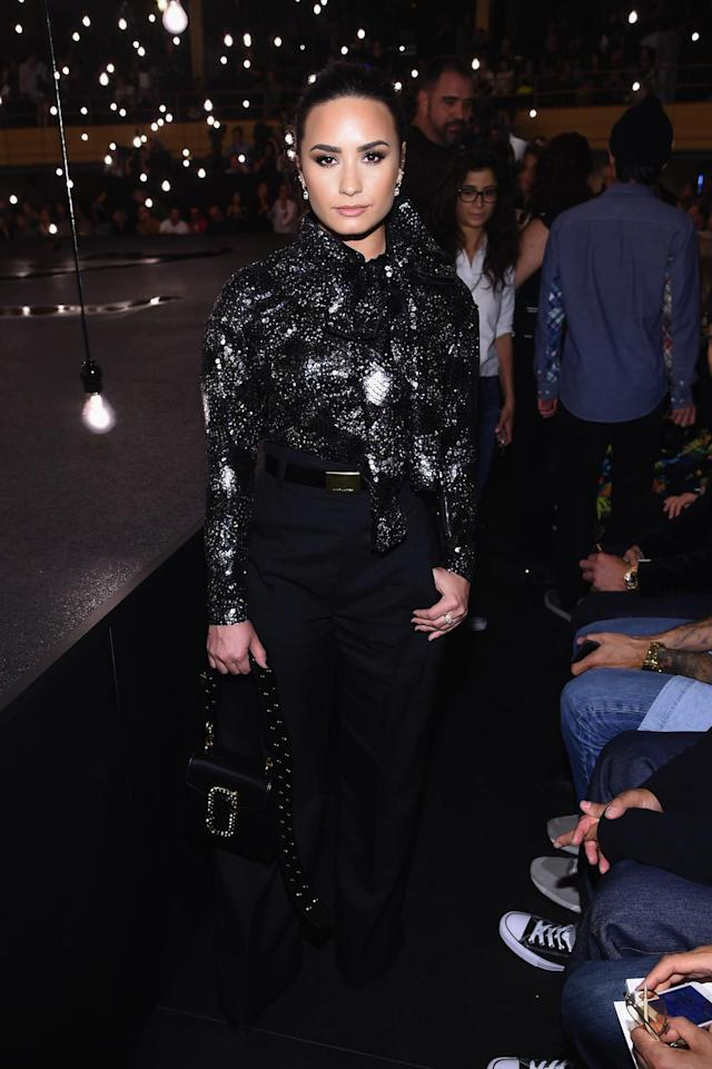 <p>NEW YORK, NY – SEPTEMBER 15: Demi Lovato attends the Marc Jacobs Spring 2017 fashion show front row during New York Fashion Week at the Hammerstein Ballroom on September 15, 2016 in New York City. (Photo by Dimitrios Kambouris/Getty Images for Marc Jacobs) </p>