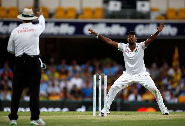 Suranga Lakmal proved his value in helpful conditions once again