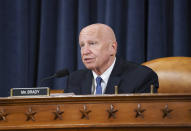 Rep. Kevin Brady, R-Texas, ranking member of the tax-writing House Ways and Means Committee, makes an opening statement as the panel holds a markup hearing to craft the Democrats' Build Back Better Act, massive legislation that is a cornerstone of President Joe Biden's domestic agenda, at the Capitol in Washington, Thursday, Sept. 9, 2021. The high cost of the bill, to help families and combat climate change, would be financed in part by increasing taxes on the wealthy and corporations. (AP Photo/J. Scott Applewhite)