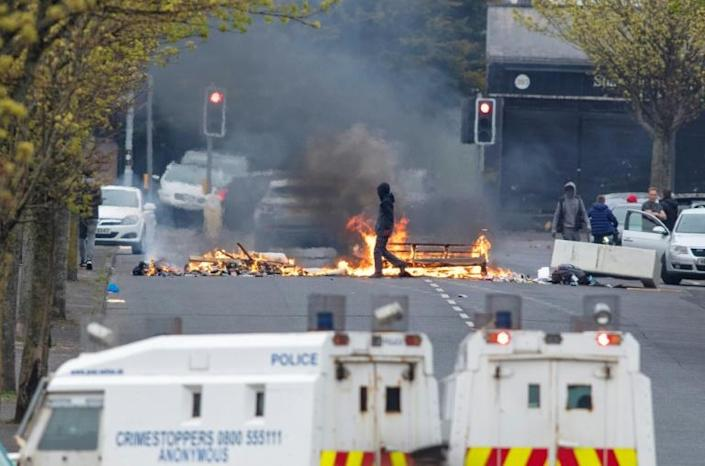 Anger spilled over into violence in April as Northern Ireland unionists rioted for several nights