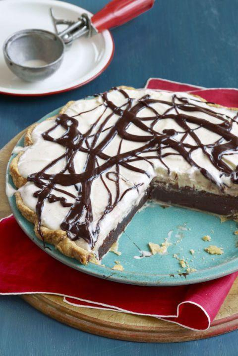 "<p>Made with chocolate custard, vanilla ice cream, and fudge sauce, this sweet is pretty much an ice cream sundae in pie form, and we couldn't be more excited to dig in. </p><p><em><a href=""https://www.goodhousekeeping.com/food-recipes/a8362/mississippi-mud-pie-recipe-clv0510/"" rel=""nofollow noopener"" target=""_blank"" data-ylk=""slk:Get the recipe for Mississippi Mud Pie »"" class=""link rapid-noclick-resp"">Get the recipe for Mississippi Mud Pie »</a></em></p>"