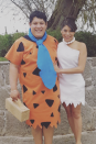 """<p>Meet the modern stone age family. Create these costumes easily with loads of fabric, like this Wilma did herself.</p><p><a class=""""link rapid-noclick-resp"""" href=""""https://www.amazon.com/Rubies-Flintstones-Flintstone-Costume-Standard/dp/B000XEX8ZC/?tag=syn-yahoo-20&ascsubtag=%5Bartid%7C10072.g.27868801%5Bsrc%7Cyahoo-us"""" rel=""""nofollow noopener"""" target=""""_blank"""" data-ylk=""""slk:SHOP SIMILAR"""">SHOP SIMILAR</a></p>"""
