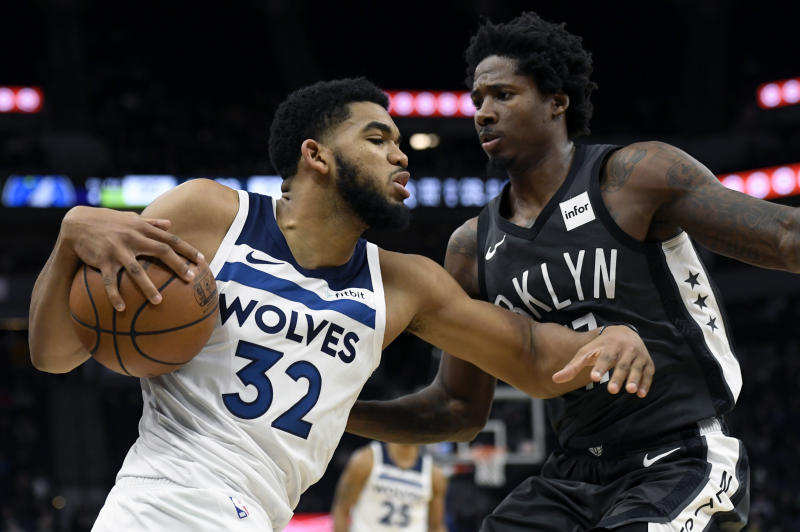 5a9c7c409119 Karl-Anthony Towns sparks Timberwolves win in first game without Jimmy  Butler