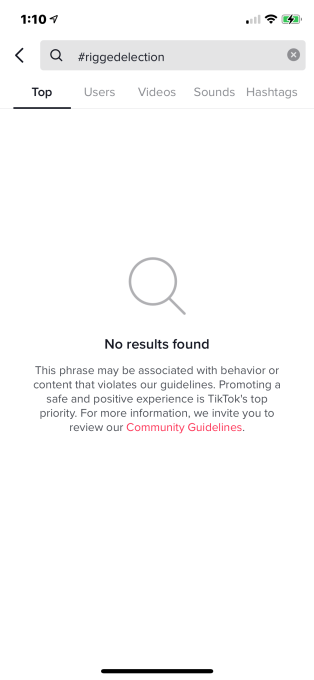 Tiktok Takes Down Some Hashtags Related To Election Misinformation Ignores Others