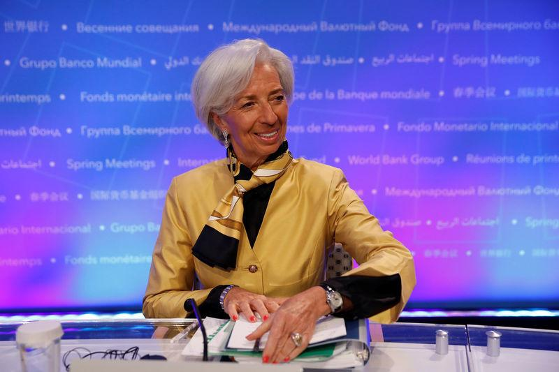 International Monetary Fund Managing Director Christine Lagarde speaks at a news conference ahead of the spring meeting of the IMF and World Bank in Washington