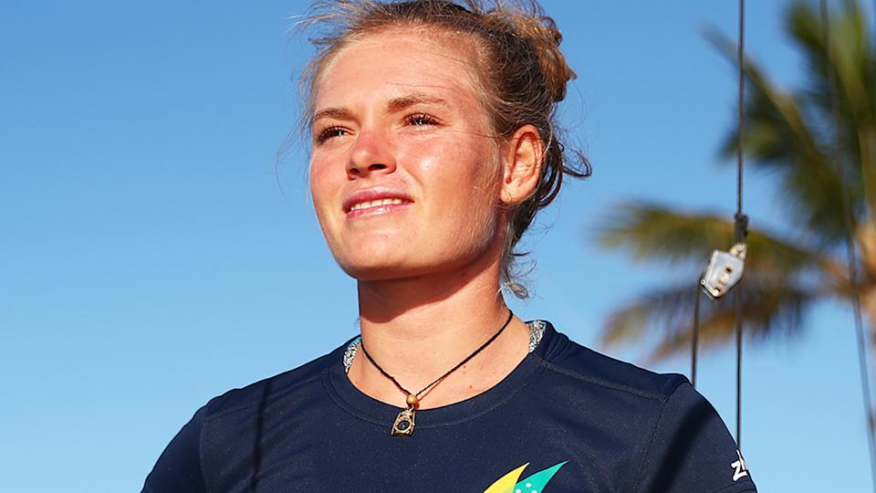 Australian Olympic sailor Mara Stransky stepped on a sea urchin just before her first heats in Tokyo.