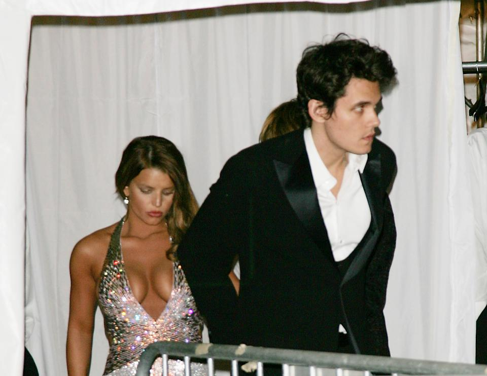 Jessica Simpson and John Mayer at the MET Gala in 2007