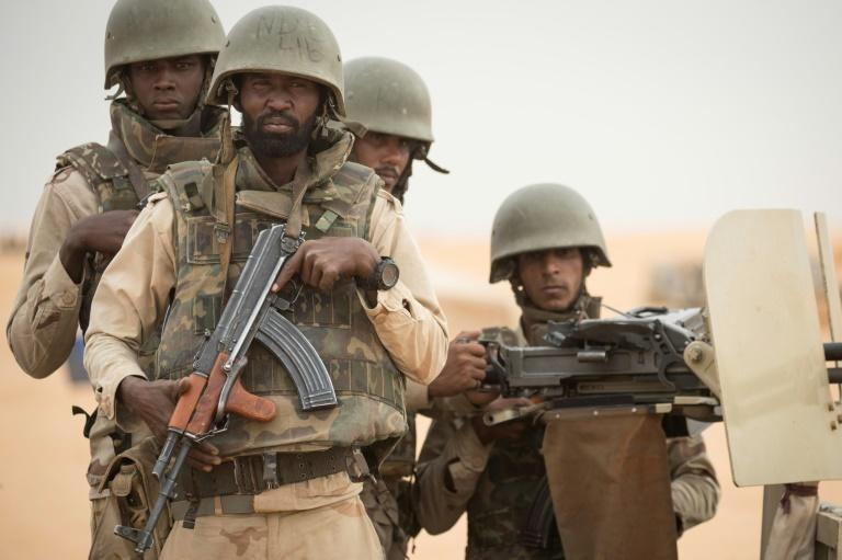 On guard: Improving military morale and conditions has been a key part of the campaign to protect Mauritania from jihadism spreading across the Sahel (AFP Photo/THOMAS SAMSON)